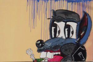 wolf,cartoon,art,paintin